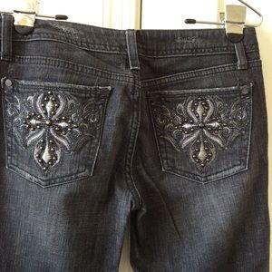 Marciano Black/Grey Wash Jeans, SZ 26